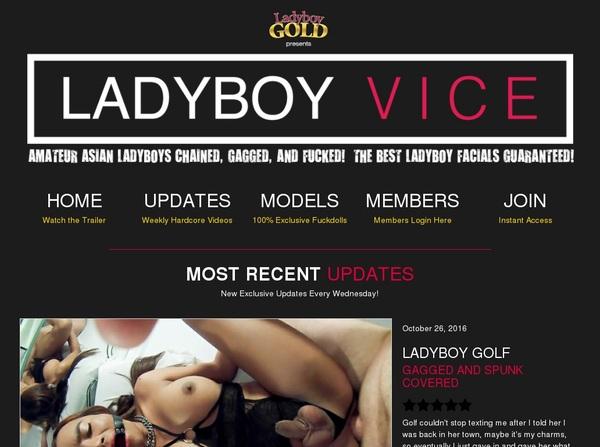 Ladyboy Vice Paysite Discounts