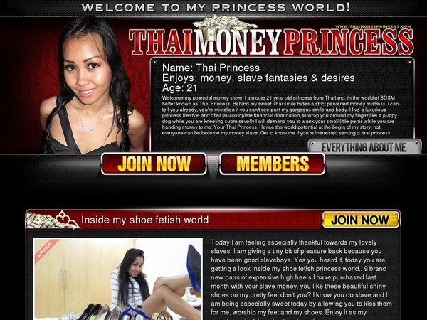 Thai Money Princess Segpay Discount
