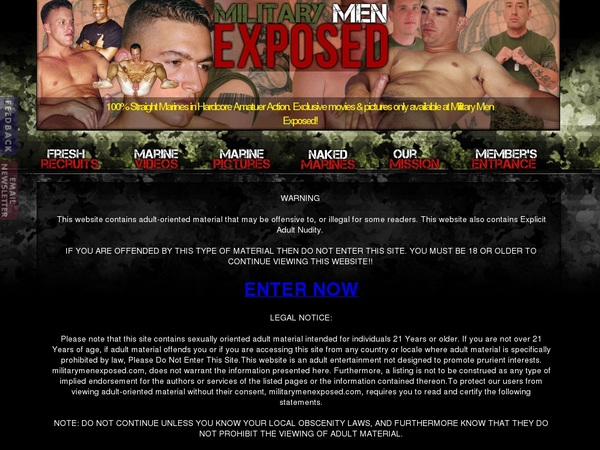 Save On Military Men Exposed