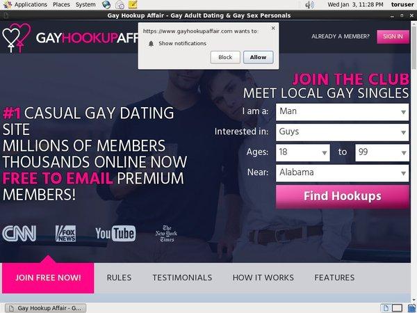 Discount Gay Hookup Affair Offer