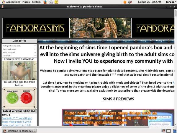 Pandorasims Signup Form