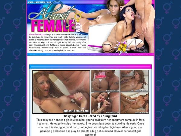 Almostfemale.com Limited Discount