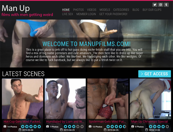Man Up Films Pricing