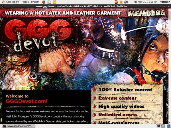 Login GGG Devot Free Trial